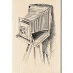 Inkadinkado - Sketches Collection - Wood Mounted Stamps - Vintage Camera