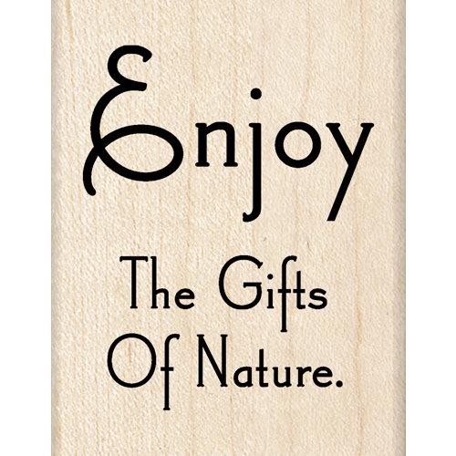 Inkadinkado - Wood Mounted Stamps - Nature Quote