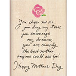 Inkadinkado - Mother's Day Collection - Wood Mounted Stamps - Happy Mother's Day