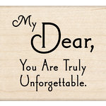 Inkadinkado - Wood Mounted Stamps - My Dear