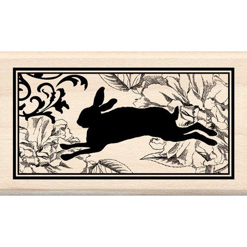 Inkadinkado - Wood Mounted Stamps - Heirloom Rabbit Print