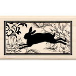 Inkadinkado - Wood Mounted Stamps - Heirloom Rabbit Print