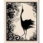 Inkadinkado - Wood Mounted Stamps - Heirloom Crane Print