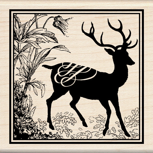 Inkadinkado - Wood Mounted Stamps - Heirloom Deer Print