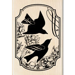 Inkadinkado - Wood Mounted Stamps - Heirloom Songbird Print