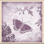 Inkadinkado - Designer Collection - Wood Mounted Stamps - Butterfly Collage