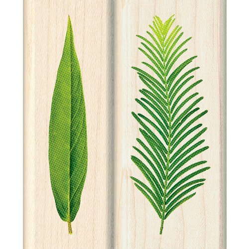 Inkadinkado - Photo Realistic Collection - Wood Mounted Stamps - Verdure