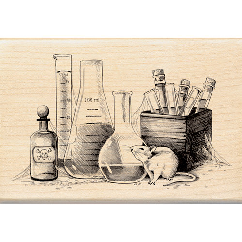 Inkadinkado - Sketches Collection - Halloween - Wood Mounted Stamps - Laboratory