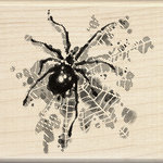 Inkadinkado - Inkblot Collection - Halloween - Wood Mounted Stamps - Spider