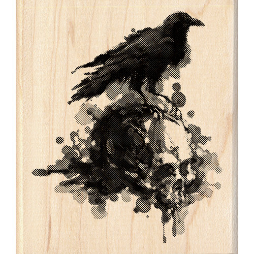 Inkadinkado - Inkblot Collection - Halloween - Wood Mounted Stamps - Raven
