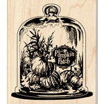 Inkadinkado - Halloween - Wood Mounted Stamps - Glassed Pumpkin Patch