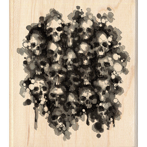 Inkadinkado - Inkblot Collection - Halloween - Wood Mounted Stamps - Skulls