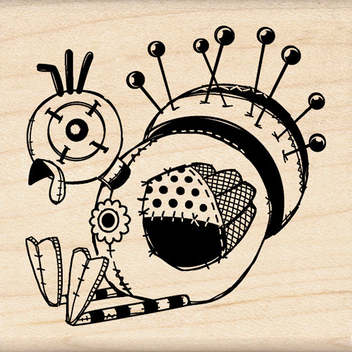 Inkadinkado - Crafted Treasures Collection - Wood Mounted Stamps - Turkey Doll