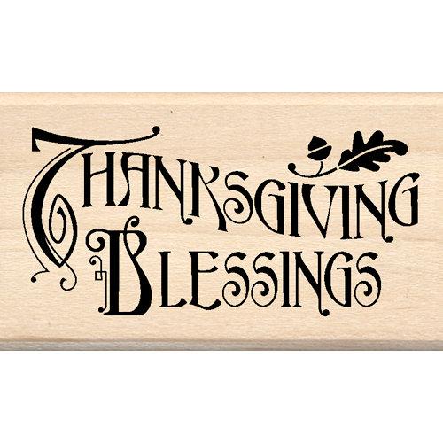 Inkadinkado - Wood Mounted Stamps - Thanksgiving Blessings