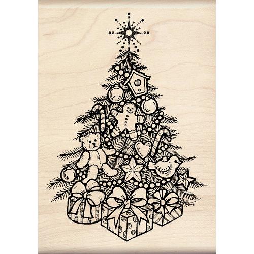 Inkadinkado - Holiday Collection - Christmas - Wood Mounted Stamps - Christmas Tree