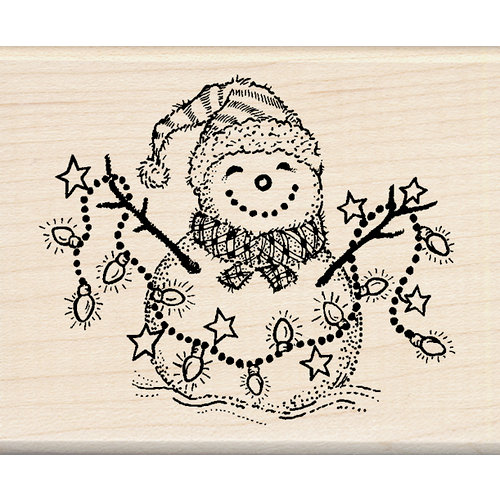 Inkadinkado - Holiday Collection - Christmas - Wood Mounted Stamps - Snowman