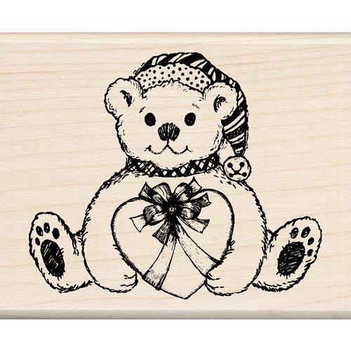Inkadinkado - Holiday Collection - Christmas - Wood Mounted Stamps - Holiday Bear