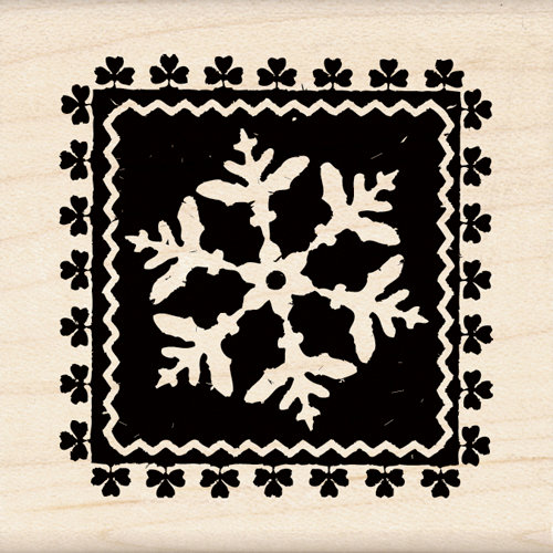 Inkadinkado - Holiday Collection - Christmas - Wood Mounted Stamps - Alpine Snowflake