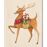 Inkadinkado - Holiday Collection - Christmas - Wood Mounted Stamps - Reindeer