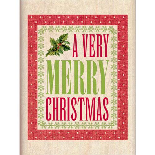 Inkadinkado - Holiday Collection - Christmas - Wood Mounted Stamps - A Very Merry Christmas