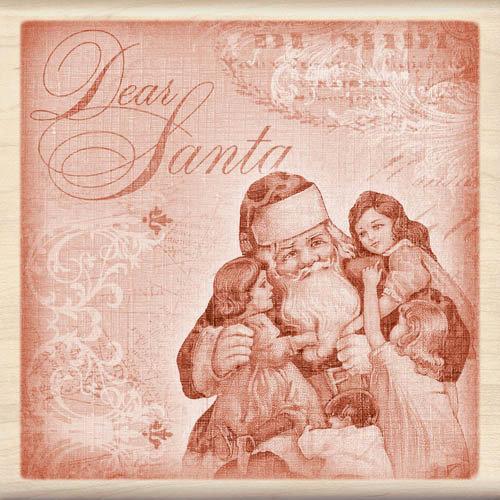 Inkadinkado - Holiday Collection - Christmas - Wood Mounted Stamps - Dear Santa Collage