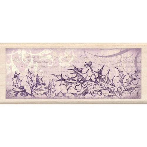 Inkadinkado - Holiday Collection - Christmas - Wood Mounted Stamps - Holly Border