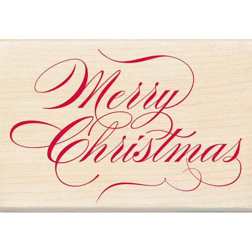 Inkadinkado - Holiday Collection - Christmas - Wood Mounted Stamps - Merry Christmas
