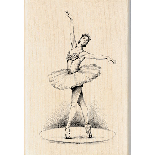 Inkadinkado - Out on the Town Collection - Wood Mounted Stamps - Ballerina Dancer