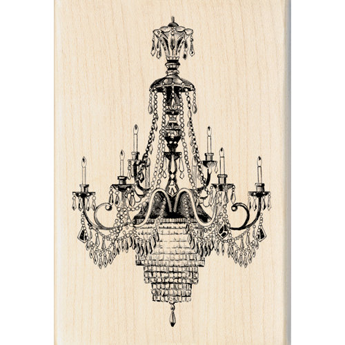 Inkadinkado - Out on the Town Collection - Wood Mounted Stamps - Ballroom Chandeliers