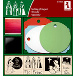 Inkadinkado - Holiday Collection - Wood Mounted Stamps and Gift Tag Set - Nativity