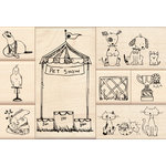Inkadinkado - Stamp-a-Story Collection - Wood Mounted Stamps - Pet Show Set