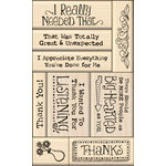Inkadinkado - Layering Wood Card Making Collection - Wood Mounted Stamps - Thank You