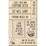 Inkadinkado - Layering Wood Card Making Collection - Wood Mounted Stamps - Get Well