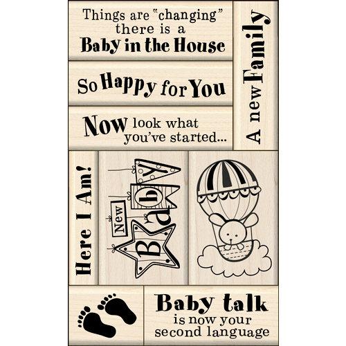 Inkadinkado - Layering Wood Card Making Collection - Wood Mounted Stamps - Baby