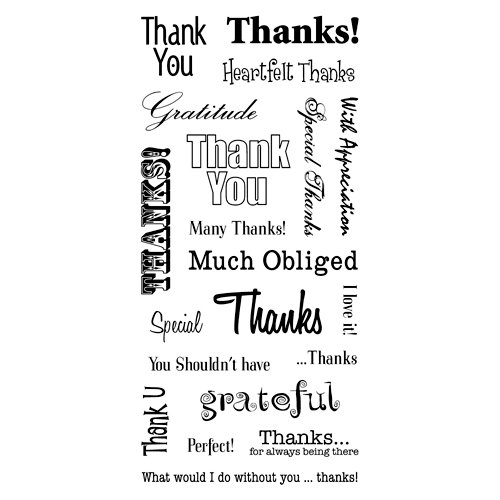Inkadinkado - Clear Acrylic Stamps - Thank You Words