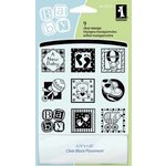 Inkadinkado - Refresh Collection - Clear Acrylic Stamp Set with Acrylic Block - Baby Inchie