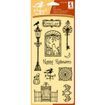 Inkadinkado - Halloween Collection - Clear Acrylic Stamp Set - Creepy Lane, CLEARANCE