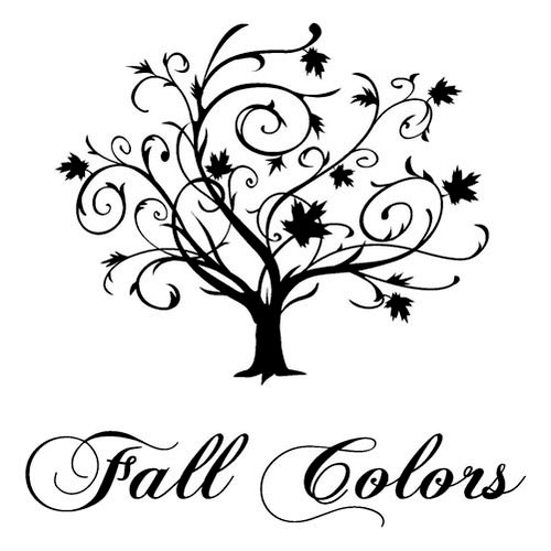 Inkadinkado - Refresh Collection - Clear Acrylic Stamps - Mini Fall Color Tree, CLEARANCE