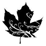 Inkadinkado - Refresh Collection - Clear Acrylic Stamps - Mini Maple Leaf Swirl