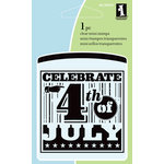 Inkadinkado - Summer Collection - Clear Acrylic Stamps - Mini 4th of July