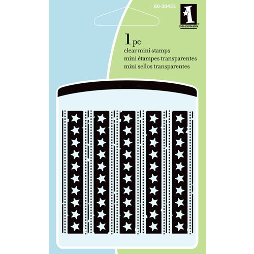 Inkadinkado - Summer Collection - Clear Acrylic Stamps - Mini Star and Stripes
