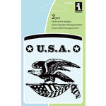 Inkadinkado - Summer Collection - Clear Acrylic Stamps - Mini Patriotic Eagle