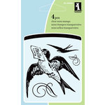 Inkadinkado - Summer Collection - Clear Acrylic Stamps - Mini Hello Bird