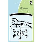 Inkadinkado - Summer Collection - Clear Acrylic Stamps - Mini Horse Weathervane