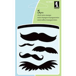 Inkadinkado - Summer Collection - Clear Acrylic Stamps - Mini Mustaches