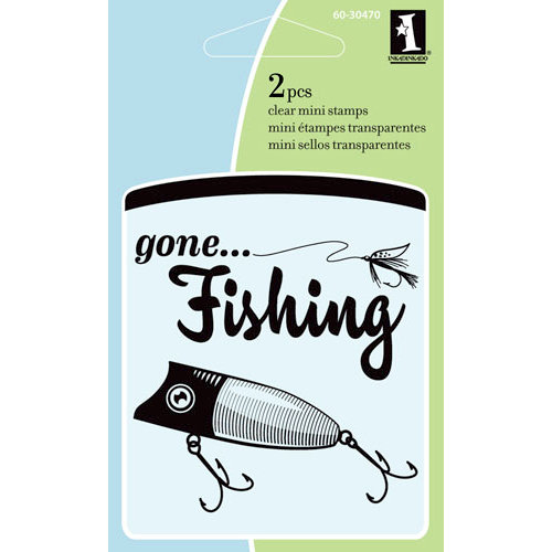 Inkadinkado - Summer Collection - Clear Acrylic Stamps - Mini Gone Fishing