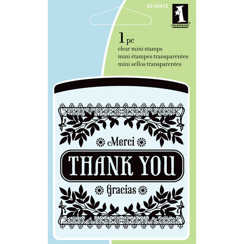 Inkadinkado - Summer Collection - Clear Acrylic Stamps - Mini Expression of Gratitude