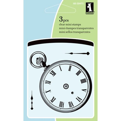 Inkadinkado - Summer Collection - Clear Acrylic Stamps - Mini Pocket Watch