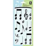 Inkadinkado - Clear Acrylic Stamp Set - Musical Notes