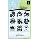 Inkadinkado - Clear Acrylic Stamp Set with Acrylic Block - Dogs